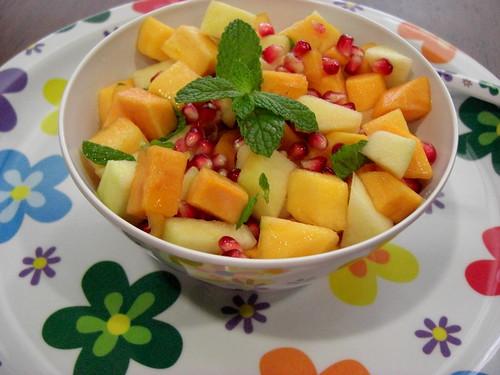 Persimmon Pomegranate Salad