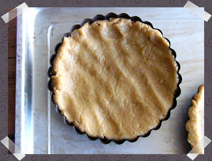 Apple Tarts - Flattening the dough