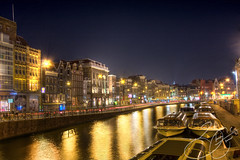 Unforgettable Nights (country_boy_shane) Tags: life wood old city travel vacation sky people urban holland cars home netherlands buses amsterdam bicycle metal ferry architecture night buildings river concrete lights was three boat canal bars europe glow cityscape shane euro antiq