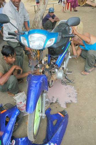 Bike being reassembled after near-drowning incident
