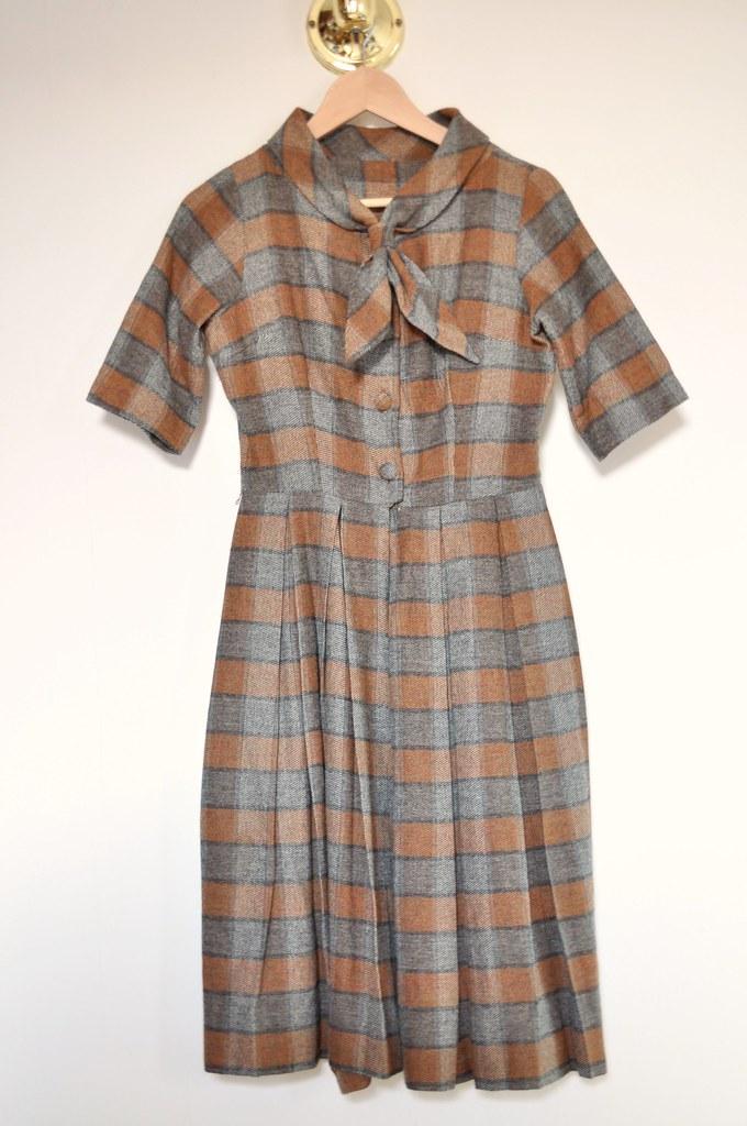 vintage wool plaid dress