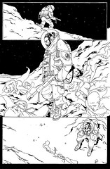 Page 12 - Inks (MatthewJamesTaylor) Tags: moon illustration matt cowboy comic rifle page comicbook taylor spaceman drawn bodies inked matttaylor