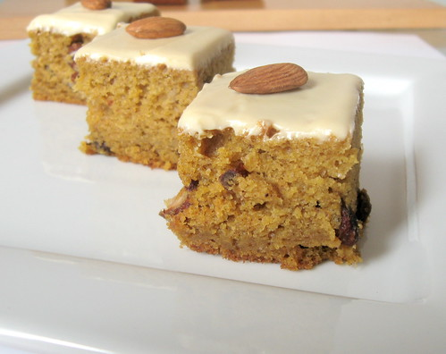 pumpkin bars on plate