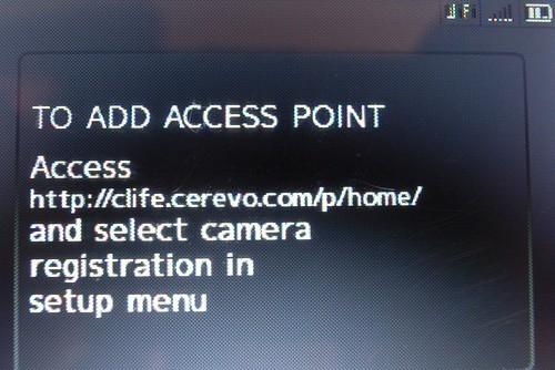 Please do wifi setup on web.