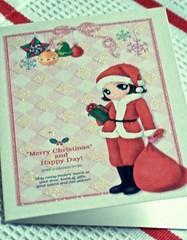 Merry Christmas and Happy Day! (bunbunlife) Tags: christmas morning orange house holiday anime home girl glitter oregon portland happy day glory center story card kawaii lloyd cuteness greeting zakka