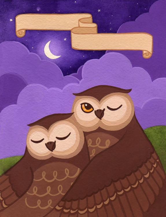 Ex Libris - Owls