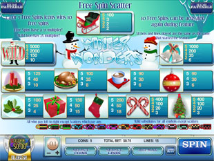 free Winter Wonders slot mini symbol