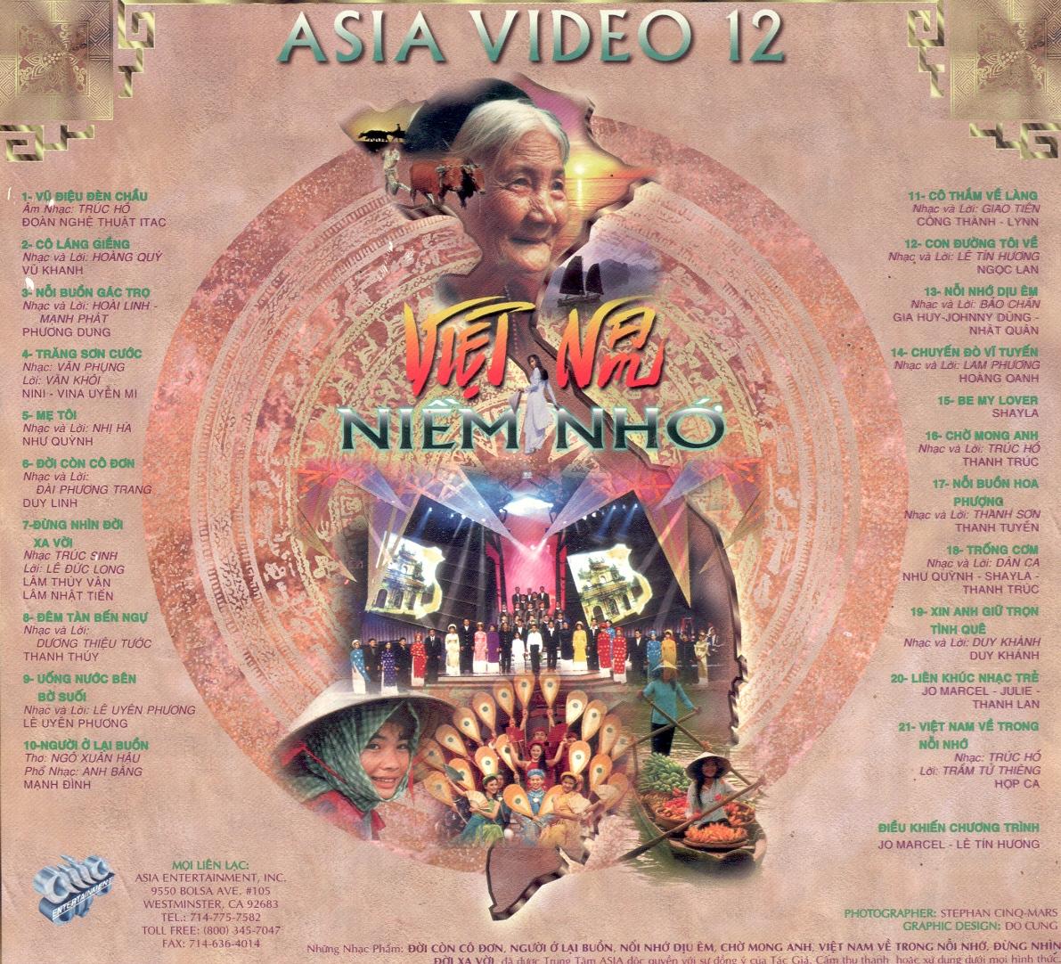 [Ca Nhạc] Asia 12- Việt Nam Niềm Nhớ [DVD9.ISO]