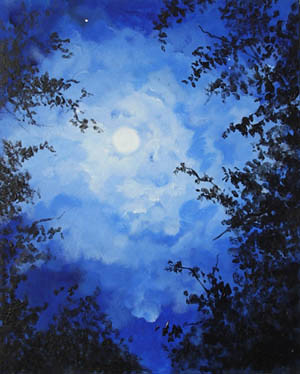 blue moon painting by sidknee23, on Flickr