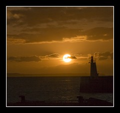 Sunset at St. Malo, France. (pixiepic's) Tags: sunset sea sky lighthouse holiday france water st clouds malo platinumheartaward rubyphotographer