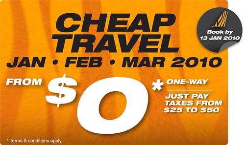 Tiger Airways Cheap Travel (copyright Tiger Airways)