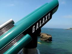 Looking into Galaxy (wolfgangp_vienna) Tags: sea france coast frankreich meer village telescope galaxy bayonne biarritz küste fernrohr pyrénéesatlantiques marcantabrico kleinstadt golfvonbiskaya kantabrischesmeer