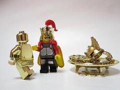 The Touch of Midas Went Awry! (wizzy0807) Tags: toy greek gold golden lego mini figure shock  minifig mythology myth midas  minifigure midastouch kingmidas