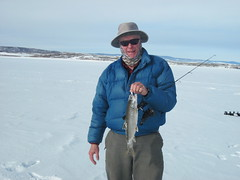 Lee With a williams Fork Lake Trout (fethers1) Tags: fishing icefishing laketrout williamsforkreservoir