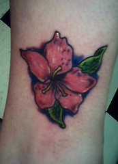 little flower (Billy Whaley Tattoo) Tags: new woman flower color tattoo ink pretty little kentucky badass albany billy louisville girlie asgard whaley