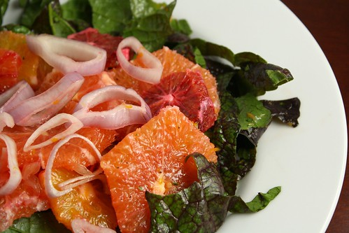 Mustard Greens and Citrus Salad