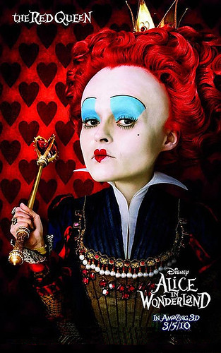 Alice in Wonderland Red Queen Movie Poster Helena Bonham Carter