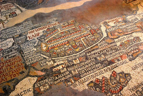 mosaic map of the holy land, madaba