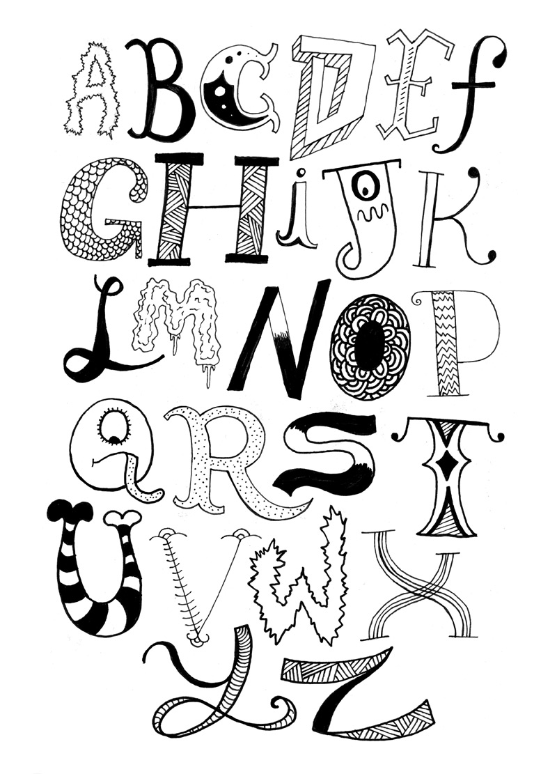 Daily Drawings | Alphabet: For those of you that don't ...