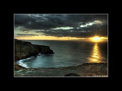 Cornwall Coast 3 (Roscoe Duncan) Tags: ocean sunset sea sun beautiful bay rocks cornwall cove atlantic coastline hdr padstow hdrsunset cornishcoast cornishcoastline britishcoastline