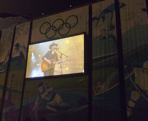 Singer Paul Brandt at Olympic Victory Ceremonies