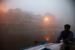 Ganga Varanasi (sebastien banuls) Tags: voyage street morning travel winter cold men festival fog walking photography photographie religion foggy indie varanasi indians  indi indien hind indi ganga pradesh hodu sangam pilgrims benares uttar haridwar indland prayag  hindistan gange uttarpradesh  svastika indija  desha ndia hindustan hindus  bharata   hiduism  hindia ardhkumbhmela   sdhu  indhiya bhratavarsha bhrrowtbaurshow  hndkastan       bhrata deshamu