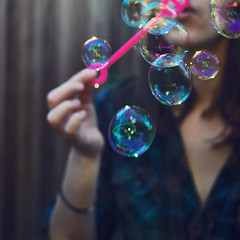 Reprise (Amanda) Tags: motion green colors girl blurry bubbles blow dreamy blowingbubbles