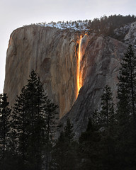 Horsetail Firefall (Rob Kroenert) Tags: california park ca sunset usa waterfall el falls national yosemite yosemitenationalpark february elcapitan horsetail capitan horsetailfalls firefall