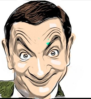 Drawing Mr Bean with iPhone