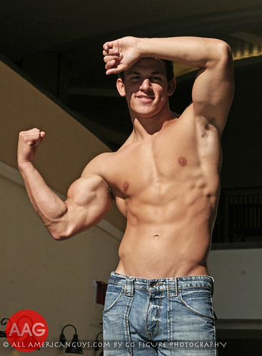 Sexy all american guys male model shirtless man hot hunk picture