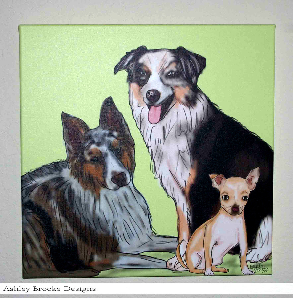 Ashley Brooke Designs: Another Perfect Dog Portrait!