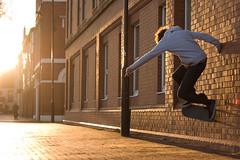 Jack Wallride (RobSalmon) Tags: camera light england slr robert marina canon lens jack 50mm skateboarding dusk bs salmon rob skate ambient skater hull dslr 18 ef wallride skateboarder mccallum sunsetish 40d