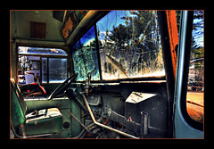 interior003 (jessicakwolek) Tags: old bus abandoned car digital truck nikon vermont vehicle junkyard hdr highdynamicrange brokendown d90