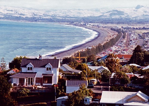 View from Bluff look Out Napier New Zealand in 1991