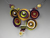 Purple/ Yellow cups necklace