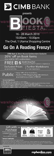 16 - 28 Mar: CIMB Book Fiesta @ One Utama