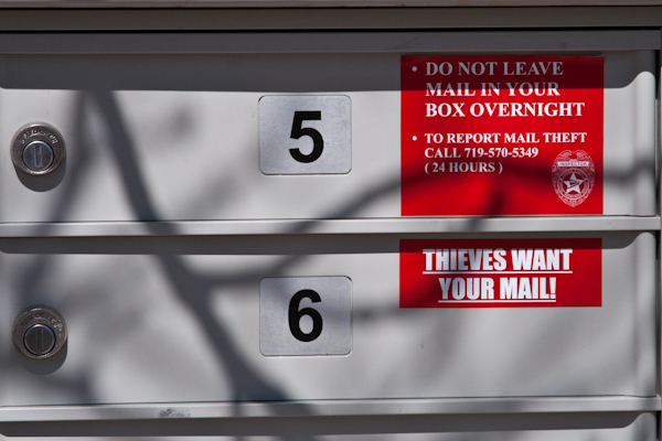 Thieves want your mail