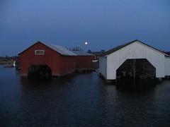 Archipelago, Uto, Finland (PP from Fin) Tags: sea summer sky moon water night suomi finland island boathouse meri vesi archipelago kuu kes y uto saari ut korpo taivas saaristo korppoo venevaja