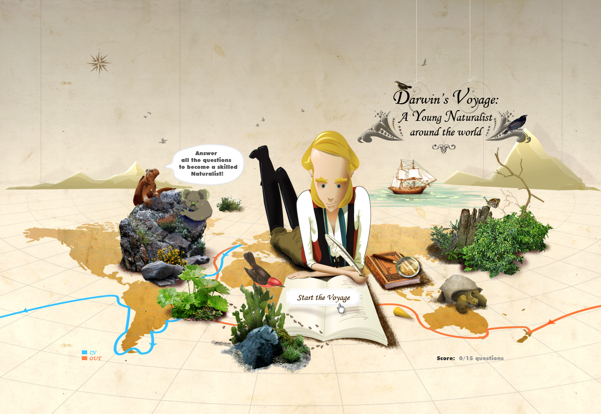 Young Darwin's Voyage: Homepage
