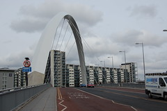 The clyde arc and lancefield quay (gordonjc) Tags: scotland glasgow lancefieldquay squintybridge clydearc clydewaterfrontregeneration