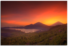 View from Kintamani, Bali (YYZDez) Tags: sea bali sunrise indonesia landscape island volcano java asia southeastasia hdr magichour goldenhour lakebatur batur denpasar kintamani penelokan gunungagung lessersundaislands indonesianisland