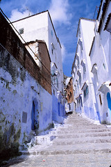 City Of The Sky (QXZ) Tags: africa travel film morocco maghreb chefchaouen xaouen chouen nikkor28mm nikonnikkormatelw fujichromeprovia400x