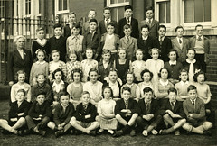 Image titled Jim McGinn Front Row, 6th on the left, Riddrie School, Leader Street 1954
