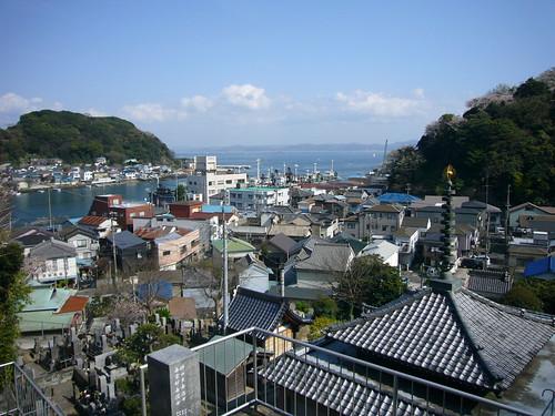 東福寺から浦賀湾を見た風景