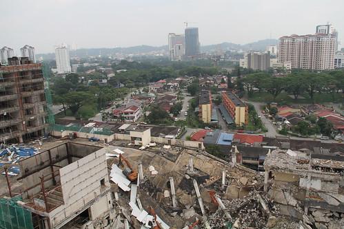 Jaya Supermarket in ruins