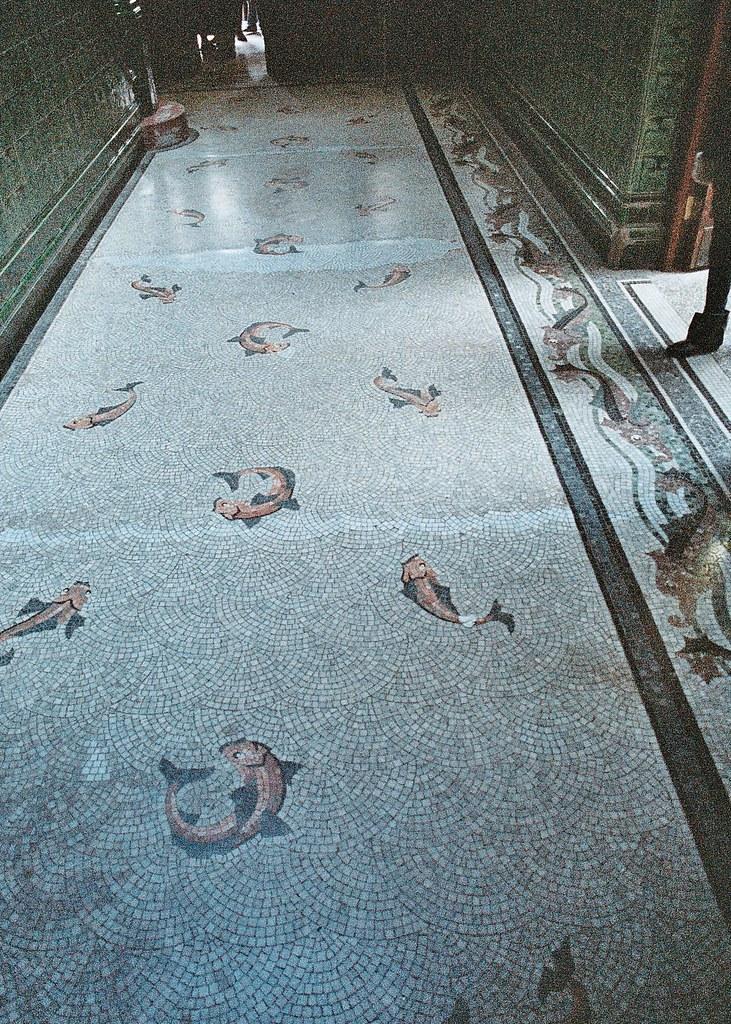 Victoria baths, Manchester - mosaic floor