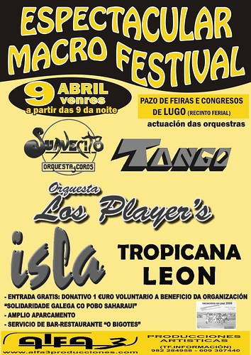 Lugo Macrofestival 2010 Alfa3 cartel