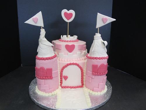 Whipt Cream Castle Birthday Cake