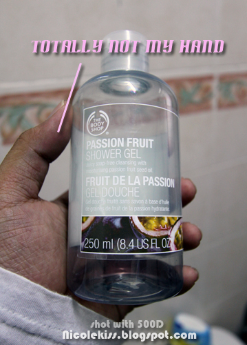 almost empty shower gel