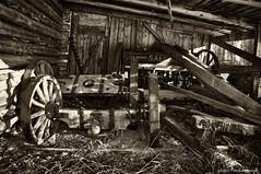 At the farm (Wiking66) Tags: wood bw white black wheel se spring al pentax sweden farm ii da april 18 55 patrik patent smrgsbord salix lule svartvitt norrbotten engman k20d